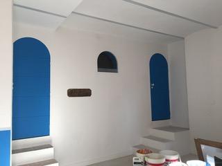 Maison bord de Mer - Blanc et bleu - SylviColor-Peintures naturelles